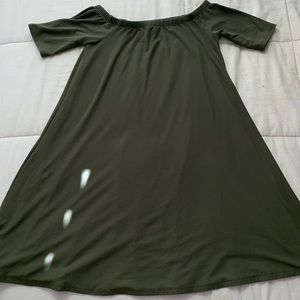 Macy's Lose Fitted Olive Green Dress